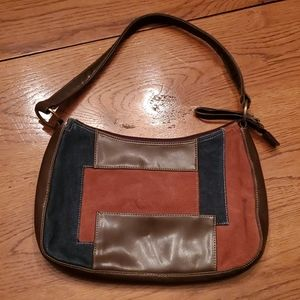 None West suede brown patchwork purse